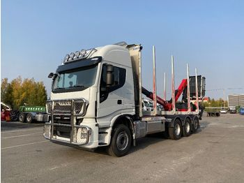 IVECO X-Way AS 340X57 8x4 - prevoz lesa