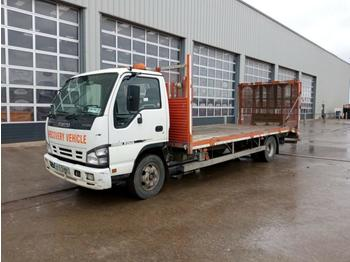 2007 Isuzu NQR Beavertail Plant Lorry, Electric Winch, Fliptoe Ramp (Irish. Reg. Docs. Available) - tovornjak s kesonom