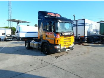 SCANIA R 124 400 left hand drive 3+3 manual - vlačilec